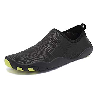 CIOR Men and Women's Barefoot Quick-Dry Water Sports Aqua Shoes With 14 Drainage Holes For Swim, Walking, Yoga, Lake, Beach, Garden, Park, Driving, Boating,SYY04,z.Black,37