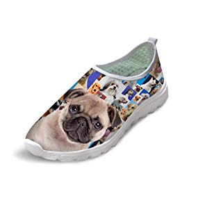 FOR U DESIGNS Fashion Animal Print Summer Casual Mesh Breathable Soft Unisex Running Shoes